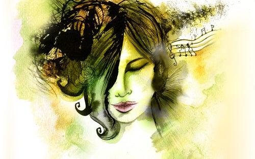 Ella encendió la música para apagar un rato su vida