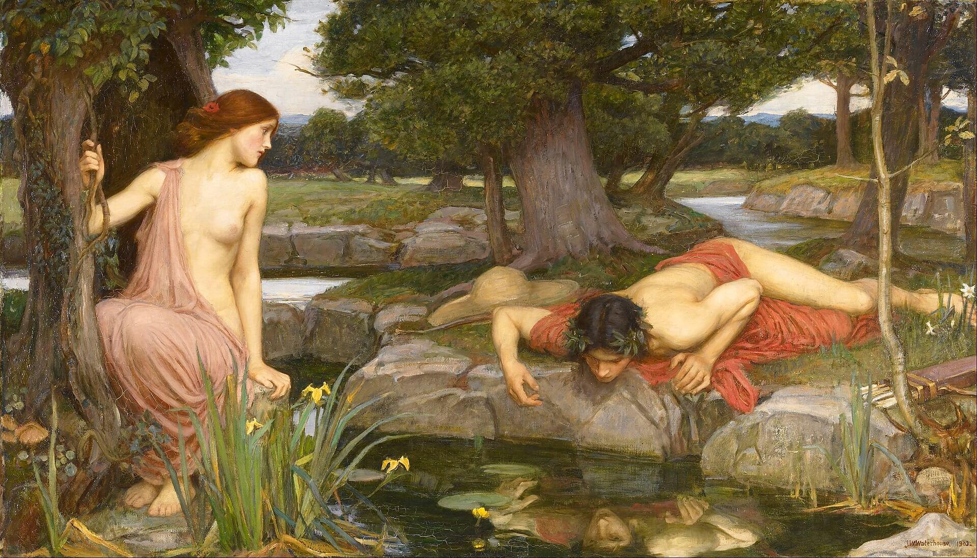 Pintura de Eco y Narciso