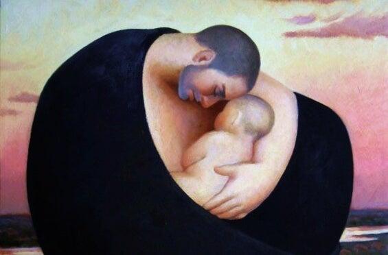 Un padre no da el pecho pero también nutre